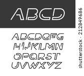 font abc alphabet italic set | Shutterstock .eps vector #212849686