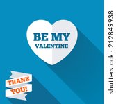 be my valentine sign icon.... | Shutterstock . vector #212849938