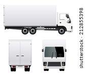 cargo truck van | Shutterstock .eps vector #212855398