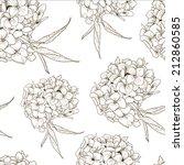 monochrome vintage botanical... | Shutterstock .eps vector #212860585