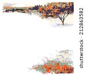 autumn landscape  tree and...   Shutterstock .eps vector #212863582