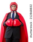 young businessman boxer... | Shutterstock . vector #212868832