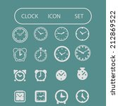 clock icon set | Shutterstock .eps vector #212869522