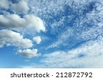 blue sky background with tiny...   Shutterstock . vector #212872792