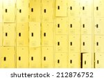 row of lockers with dramatic... | Shutterstock . vector #212876752