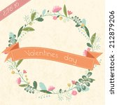 retro flower background with... | Shutterstock .eps vector #212879206
