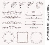 set vintage decorative elements ... | Shutterstock .eps vector #212884882
