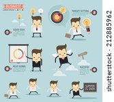 step for success business... | Shutterstock .eps vector #212885962