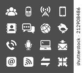 internet communication icon set ... | Shutterstock .eps vector #212908486