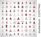 christmas tree icons and... | Shutterstock .eps vector #212917462