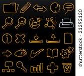 metallic line icons. cmyk mode. ... | Shutterstock .eps vector #21292120