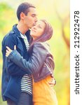 couple kissing outdoor in the... | Shutterstock . vector #212922478