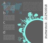 go green concept. save world... | Shutterstock .eps vector #212923018