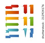 different color flags... | Shutterstock .eps vector #212924176