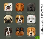 animal faces for app icons dogs ... | Shutterstock .eps vector #212924236