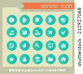 server icons on green buttons