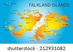 vector color map of falkland... | Shutterstock .eps vector #212931082