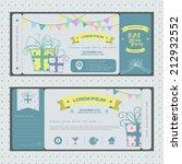 vintage ticket infographic... | Shutterstock .eps vector #212932552