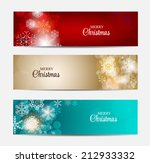 christmas snowflakes website... | Shutterstock .eps vector #212933332