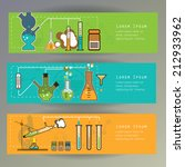 banners with chemistry... | Shutterstock .eps vector #212933962