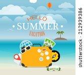 summer seaside vacation... | Shutterstock .eps vector #212939386