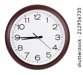 quarter to nine on a round dial | Shutterstock . vector #212956735