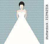 modern bridal vector... | Shutterstock .eps vector #212962516