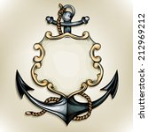 vector drawing of an anchor and ... | Shutterstock .eps vector #212969212