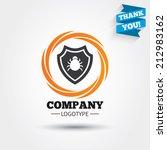 shield sign icon. virus... | Shutterstock .eps vector #212983162