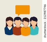 people design over beige...   Shutterstock .eps vector #212987746