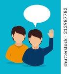education design over blue... | Shutterstock .eps vector #212987782