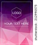 polygonal vertical greeting... | Shutterstock .eps vector #212990575