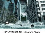 a cinematic portrayal of a city ... | Shutterstock . vector #212997622
