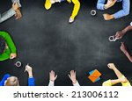group of diverse multiethnic... | Shutterstock . vector #213006112
