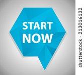 beautiful start web icon | Shutterstock . vector #213016132