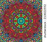 colorful rectangular ornament...   Shutterstock .eps vector #213022552