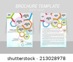 flyer template design back and... | Shutterstock .eps vector #213028978