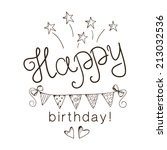 greeting text for birthday. eps ... | Shutterstock .eps vector #213032536