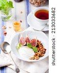 honey glazed oat  goji berries...   Shutterstock . vector #213033682