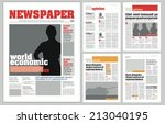 graphical design newspaper... | Shutterstock .eps vector #213040195