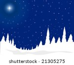 beautiful winter scene | Shutterstock .eps vector #21305275