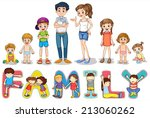 illustration of family members... | Shutterstock .eps vector #213060262