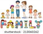 illustration of family members...