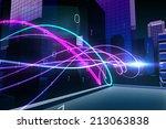 digitally generated purple... | Shutterstock . vector #213063838