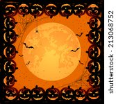 halloween night background with ... | Shutterstock . vector #213068752