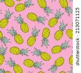 seamless tossed summer... | Shutterstock .eps vector #213071125