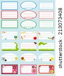 school labels   Shutterstock .eps vector #213073408