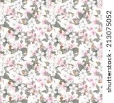 seamless repeated floral... | Shutterstock . vector #213075052