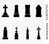 gravestones | Shutterstock .eps vector #213076792