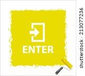 beautiful enter web icon | Shutterstock .eps vector #213077236